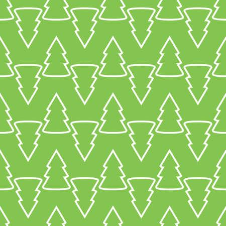 Christmas fir tree green art seamless pattern. Vector illustration Ilustração