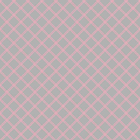 Seamless abstract diagonal grid squares gray pattern Çizim