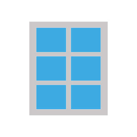 Simple window icon isolated on white background