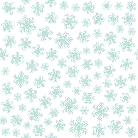 Seamless art pattern with snowflakes on white background. Vector Illustration Çizim