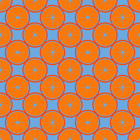 Orange fruit seamless bright pattern. Vector illustration