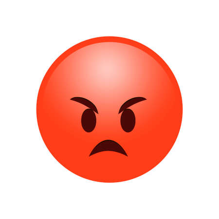 Angry smile emotion reaction symbol icon vector
