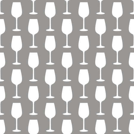 Seamless art abstract background with wine glasses