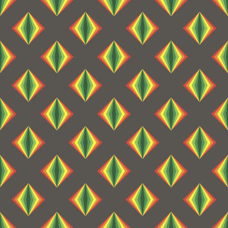 Simple gray pattern background with rainbow rhombus