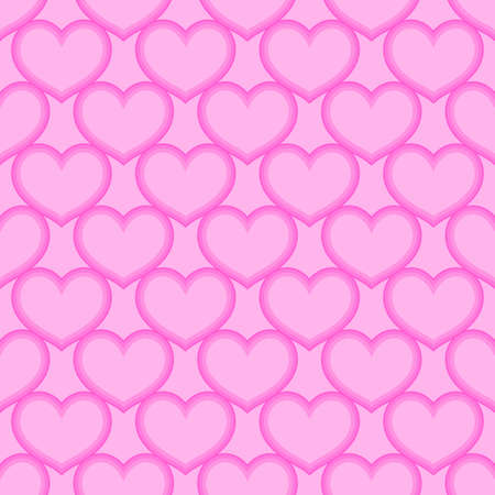 Pink hearts love seamless background pattern, Valentine day Иллюстрация