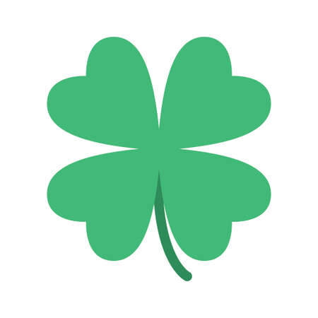 Saint Patrick lucky irish day green clover symbol. Vector illustration Vektorové ilustrace