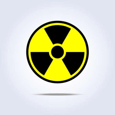 Radioactivity emblem danger power icon black yellow