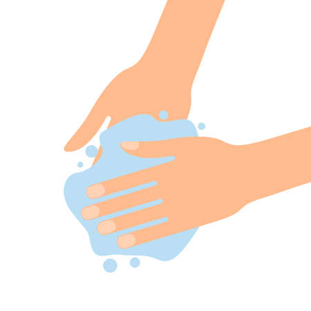 Wash your hands with soap sign virus protection Illustration
