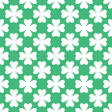 Saint Patrick day green clover seamless pattern