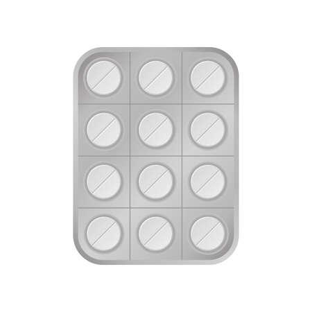 Virus white pill tablet medical help icon vector 矢量图像