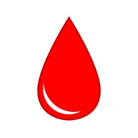 Drop of blood medical icon virus health. Vector illustration