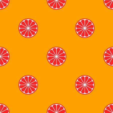 Orange fruit seamless bright art  pattern