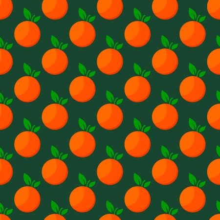 Orange fruit seamless bright pattern. illustration 矢量图像