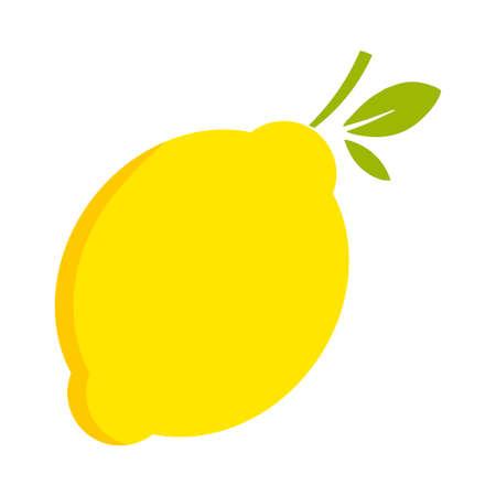Lemon citrus fruit icon bright art vector
