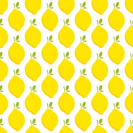 Lemon fruit seamless bright art vector pattern