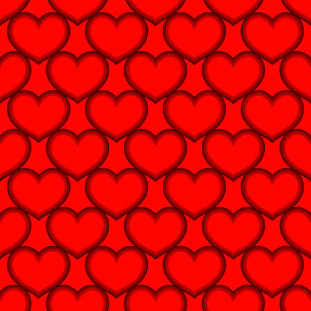 Red hearts love seamless background pattern, Valentine day