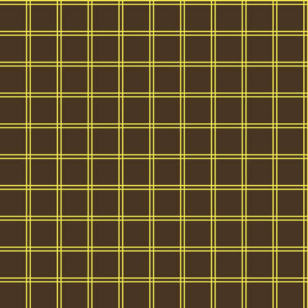 Seamless abstract simple grid squares brown pattern Illustration