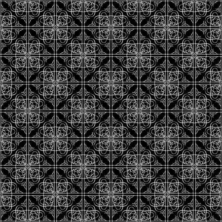 Seamless abstract vintage dark black art pattern Illustration