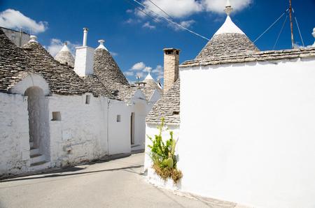 Town of Alberobello, village with Trulli houses in Puglia Apulia region, Southern Italy