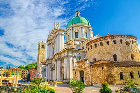 Santa Maria Assunta Cathedral, Duomo Nuovo and Duomo Vecchio La Rotonda, New and Old Cathedral Roman Catholic church, Piazza Paolo VI Square, Brescia city historical center, Lombardy, Northern Italy