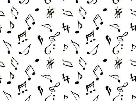 Abstract music pattern Illustration
