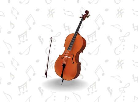 Classic musical instrument - cello Stock Vector - 16879340