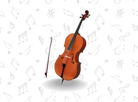 Cello  Vector  Classiv music instrument Illustration