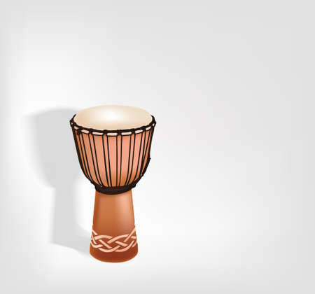 Djembe  Vector  Native african instrument