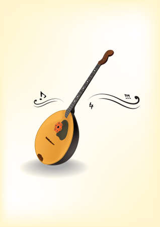 Domra  Vector  Native russian instrument Illustration