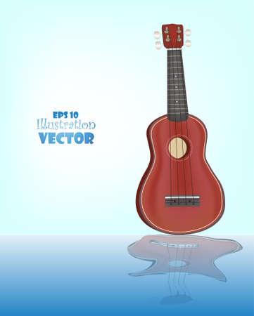 Ukulele  Vector  Native Hawaiian instrument Illustration