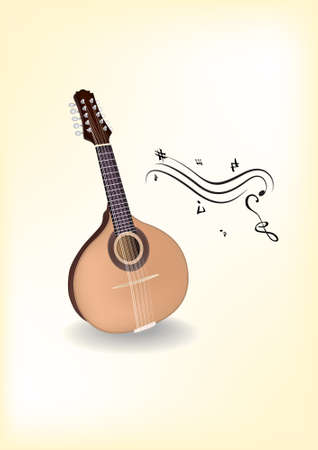 stringed: Mandolin  Vector  Native russian instrument