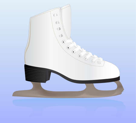 Vector illustration of skate on ice Illustration