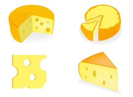 Vrctor clipart - cheese. Abstract background