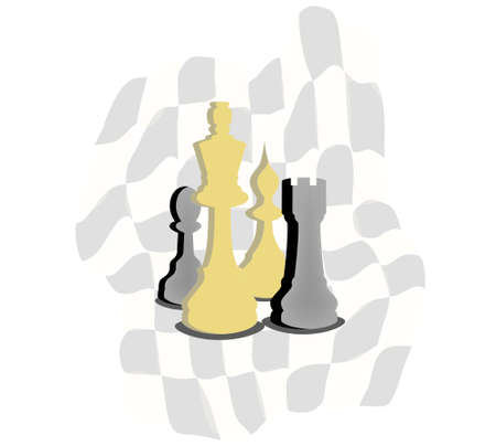 Vrctor clipart - chess. Abstract background Illustration