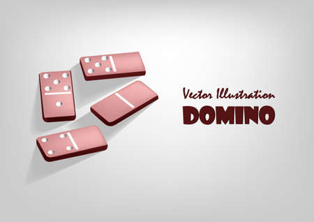 Vrctor clipart - domino. Abstract background