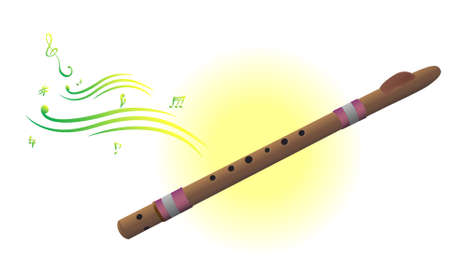 Vrctor clipart - musical instrument. Abstract background