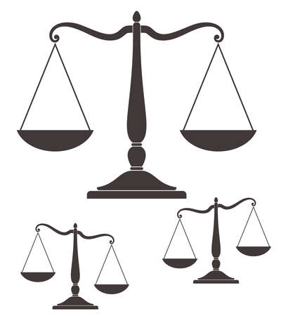 balanza en equilibrio: Escala Vectores