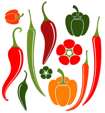 red jalapeno: Pepper Illustration