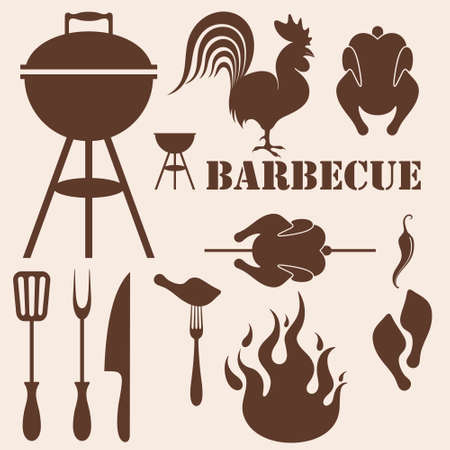 8,447 Bbq Chicken Stock Vector Illustration And Royalty Free Bbq ...