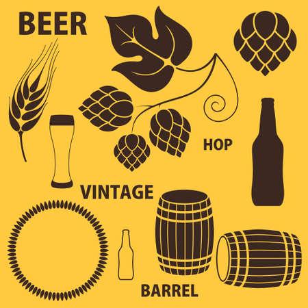 german beer: Beer  Set Illustration