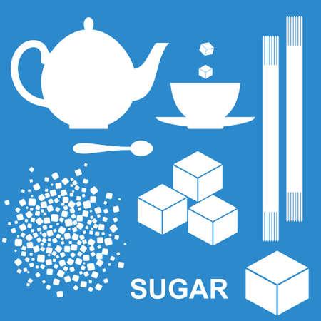 sugar cube: Sugar Illustration