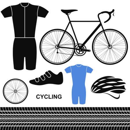 Cycling  Set Illustration