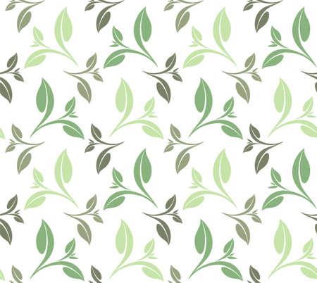 green tea leaves: Tea Illustration