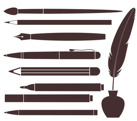 Pencil  Pen  Brush  Felt Pen  Feather