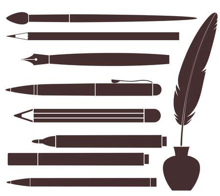feather pen: Pencil  Pen  Brush  Felt Pen  Feather