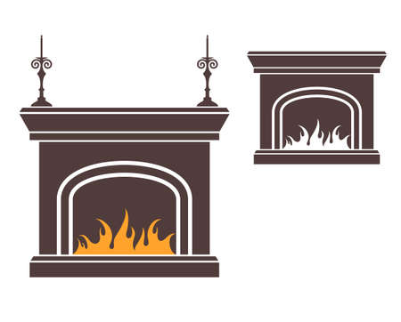 Fireplace Stock Vector - 30828896