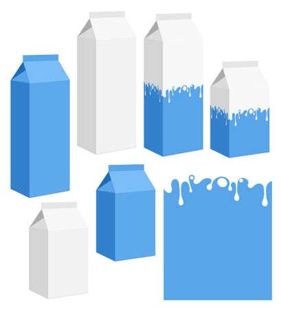 caja de leche: Leche