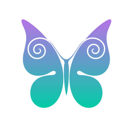 mariposa azul: Mariposa  Vectores