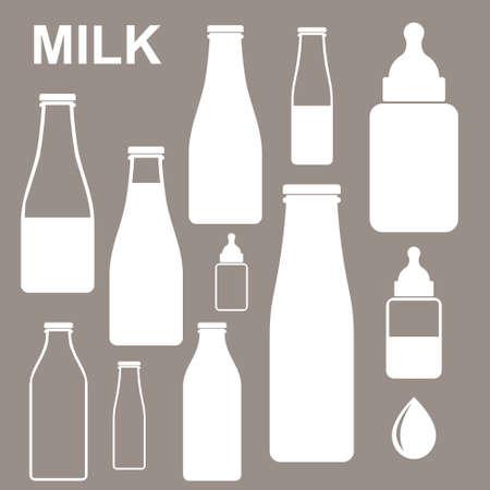 milk drop: Milk  Bottle