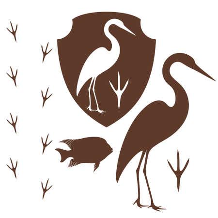 egret: Heron symbol